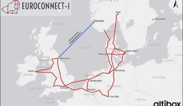 subsea fibre cable connecting Norway and UK