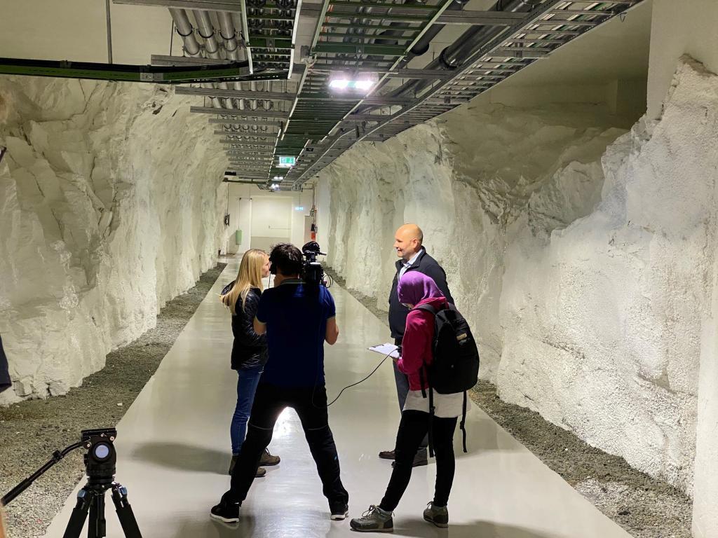 Green Mountain with the Al Jazeera film crew