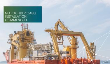 NO-UK fiber cable installation