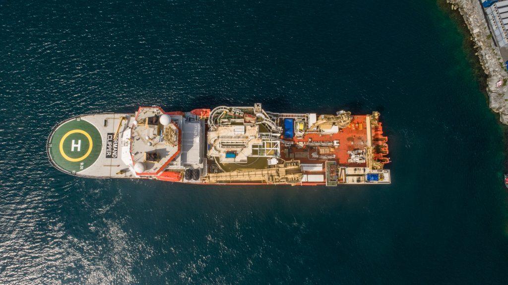 Normand Clipper Vessel at NO-UK fiber cable installation