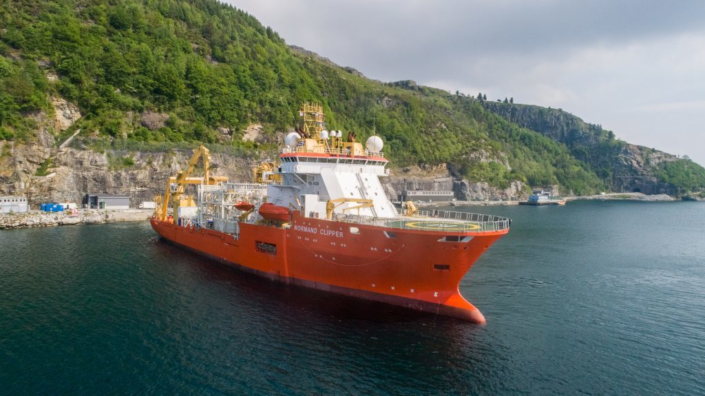 NO-UK Fiber Cable Installation vessel